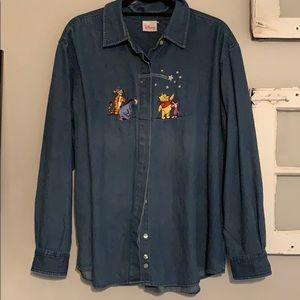Winnie the Pooh Jean button up